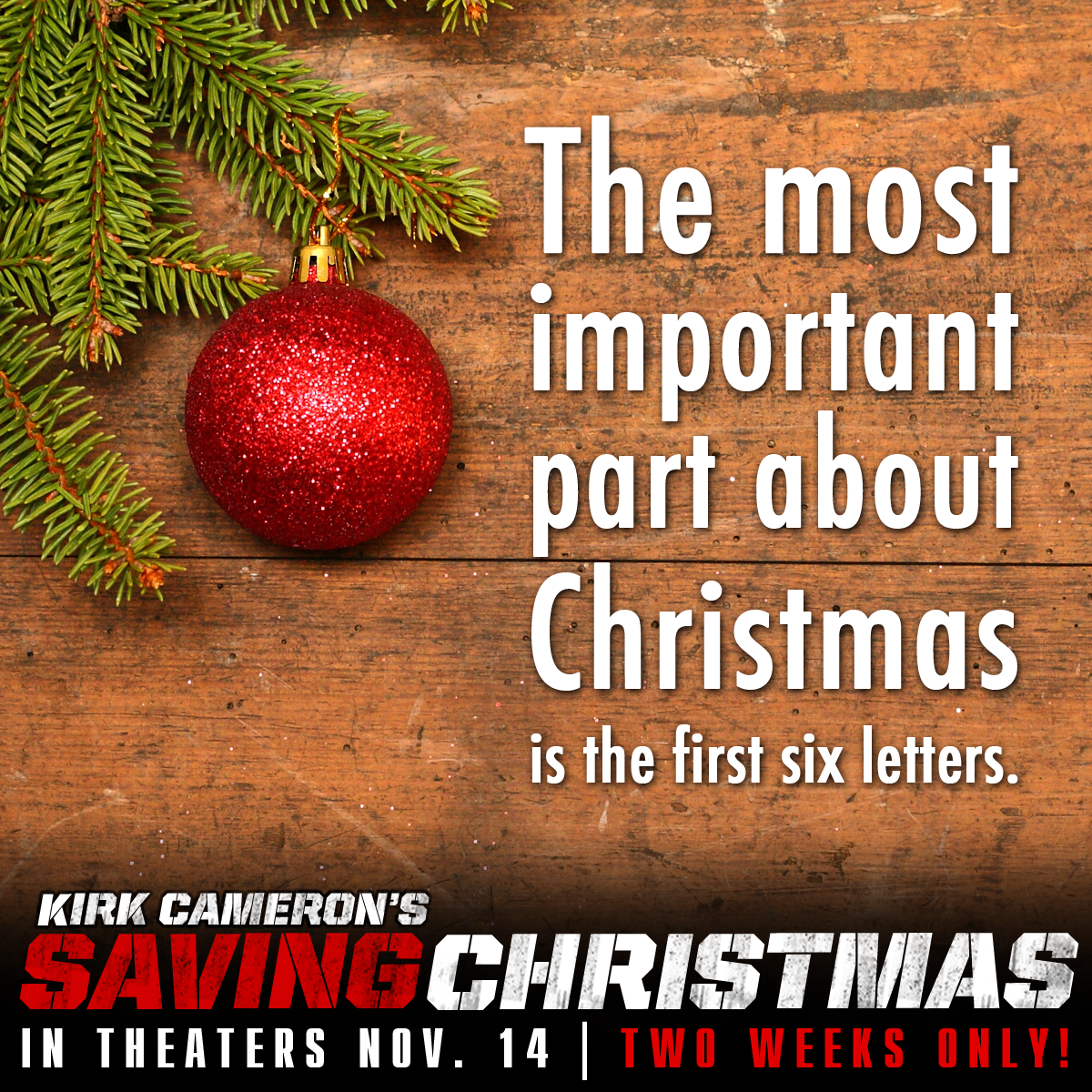 Kirk Cameron\'s Saving Christmas in Theaters November 14