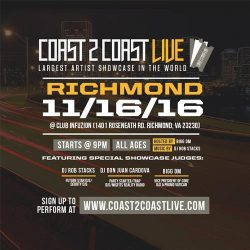 Coast 2 Coast Live at Club Infuzion in Richmond 11/16/2016
