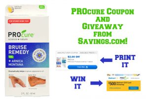 PROcure Coupon and $500 Walmart Gift Card Giveaway