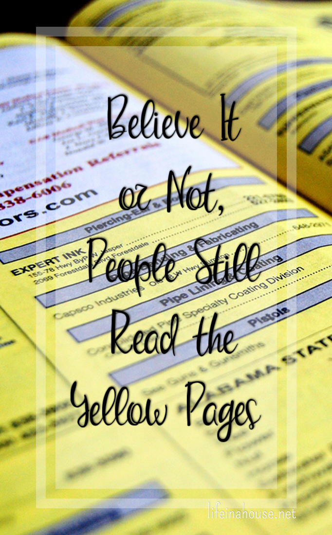 People Still Read Yellow Pages