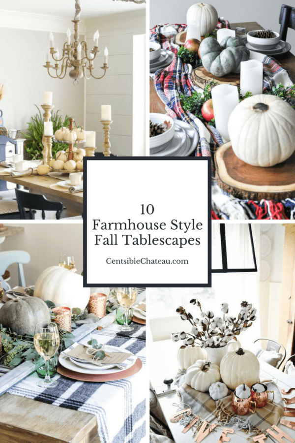 Week 189 - Farmhouse Fall Tablescape from Censible Chateau
