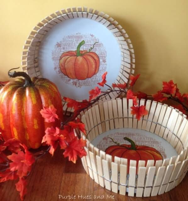 Week 194 - DIY Clothespin Baskets from Purple Hues and Me