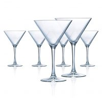 Martini Glasses Set of 6 | 10.25 Ounce Clear