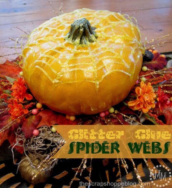 Week 250 Glitter Glue Spider Webs from The Scrap Shoppe