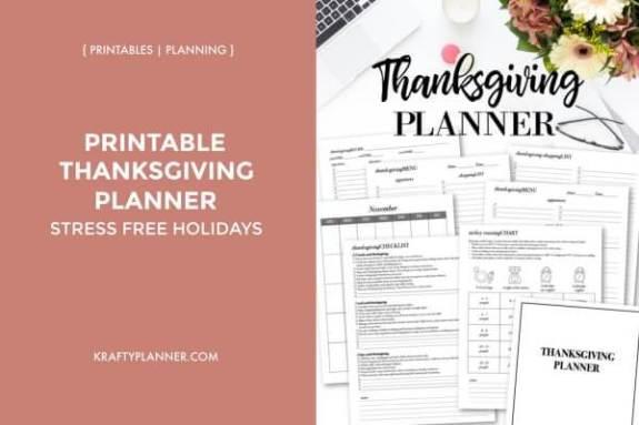 Week 251 Thansgiving Planner rom Krafty Planners